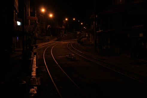 Aguas Calientes, walking in the dark