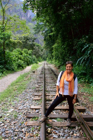 Walking along the railway track