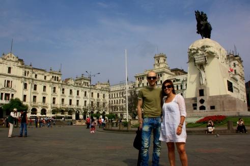 At Plaza San Martin
