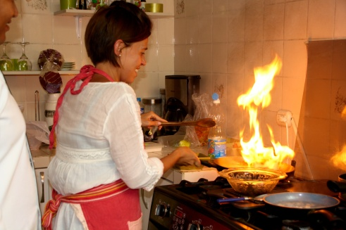 Marta cooking